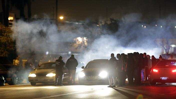 """Street racers gather in Compton. <span class=""""copyright"""">(Los Angeles Times)</span>"""