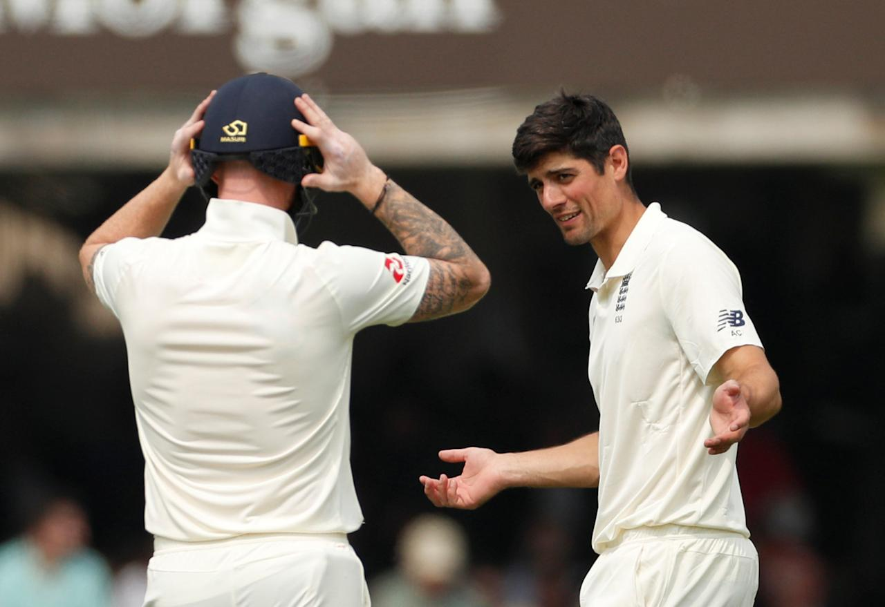 Cricket - England vs Pakistan - First Test - Lord's Cricket Ground, London, Britain - May 24, 2018   England's Alastair Cook reacts   Action Images via Reuters/John Sibley