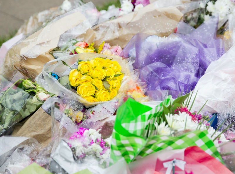 Floral tributes at the scene of the teenager's death (SWNS)