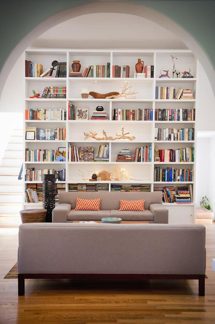 <p>Your shelves will shift over time. Remember them at their best by taking a picture when you're done. That way, you can always restore them back to their best look. </p>