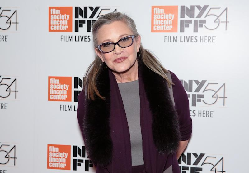 Carrie Fisher in October 2016. (CJ Rivera via Getty Images)