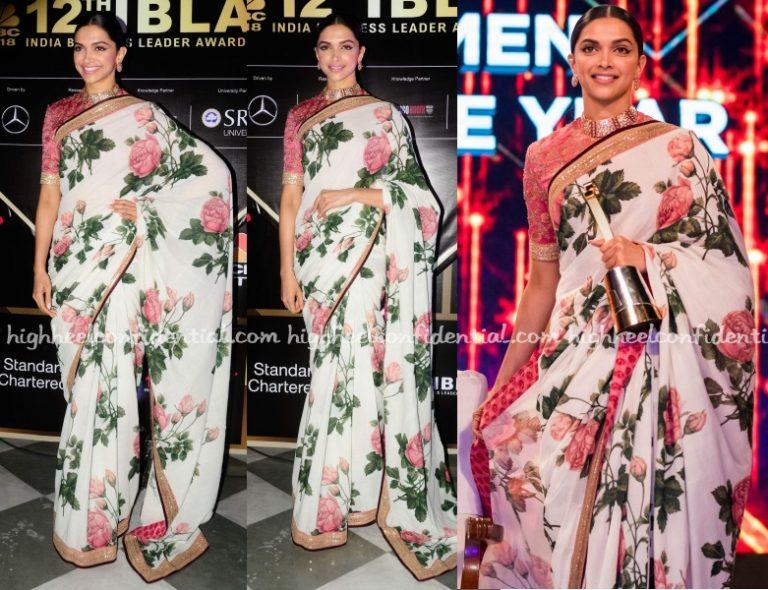 Wearing a hand-painted floral sari from Sabyasachi's latest Udaipur collection, Deepika attended the CNBC India Business Leader Awards on Thursday evening. You'll remember Ms. Padukone going very wrong with her first pick from his Lakme collection. That was not an issue here obviously. While, overall, I thought she looked good, I do wish she'd not […]