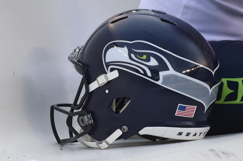 A Seattle Seahawks helmet.