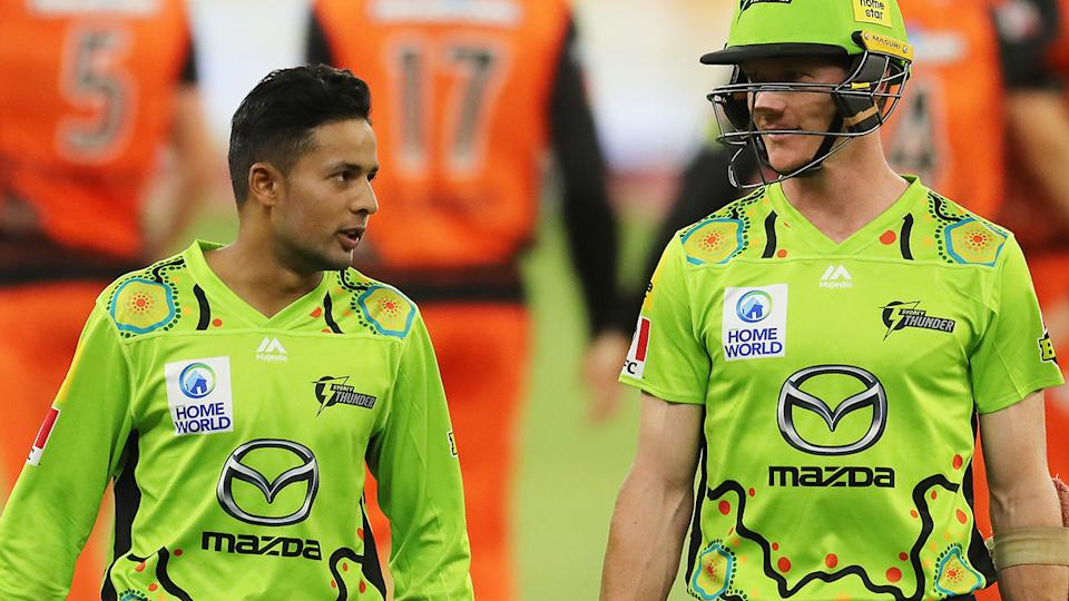 The Sydney Thunder are one of three BBL teams to wear Indigenous jerseys over the Australia Day long weekend. (Photo by Will Russell - CA/Cricket Australia via Getty Images)