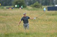Rough day: US golfer Bryson DeChambeau struggled off the tee during his opening round at the British Open