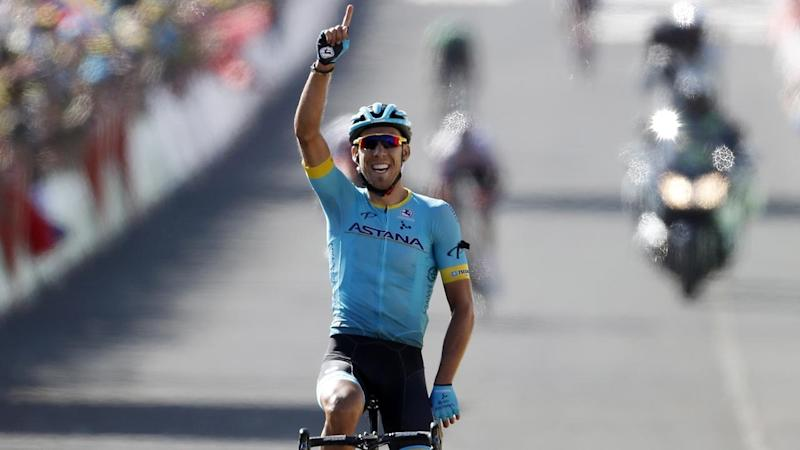 Astana Pro Team rider Omar Fraile has won the Tour de France's 14th stage after an uphill break