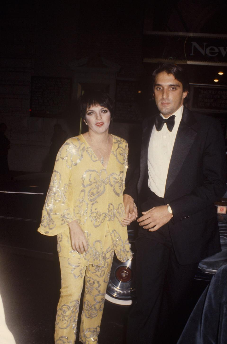 """<p>Minnelli married Mark Gero, a sculptor and theater producer, in 1979. The couple planned to have children, but Minnelli <a href=""""http://www.theguardian.com/music/2008/may/04/popandrock"""" class=""""link rapid-noclick-resp"""" rel=""""nofollow noopener"""" target=""""_blank"""" data-ylk=""""slk:experienced three pregnancy losses"""">experienced three pregnancy losses</a>. In divorce papers filed in November 1990, she <a href=""""https://www.tampabay.com/archive/1992/01/30/liza-minnelli-divorces/"""" class=""""link rapid-noclick-resp"""" rel=""""nofollow noopener"""" target=""""_blank"""" data-ylk=""""slk:charged Gero with abandonment"""">charged Gero with abandonment</a>. </p>"""