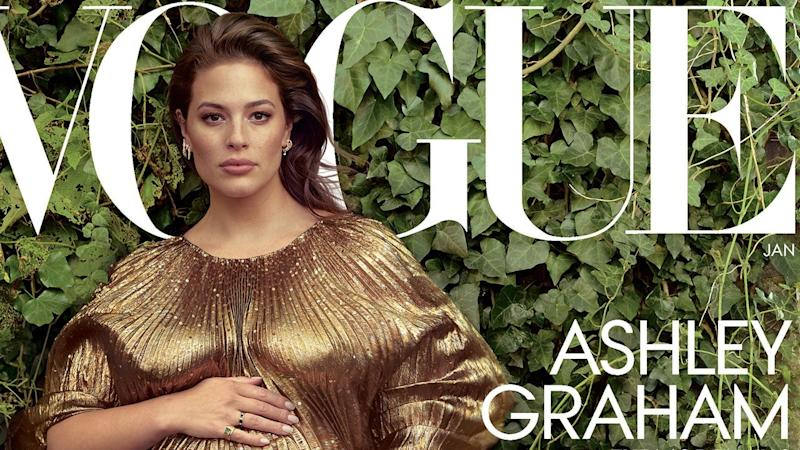 Ashley Graham Poses Partially Nude for 'Vogue' and Talks Pregnancy Body, Sex Drive