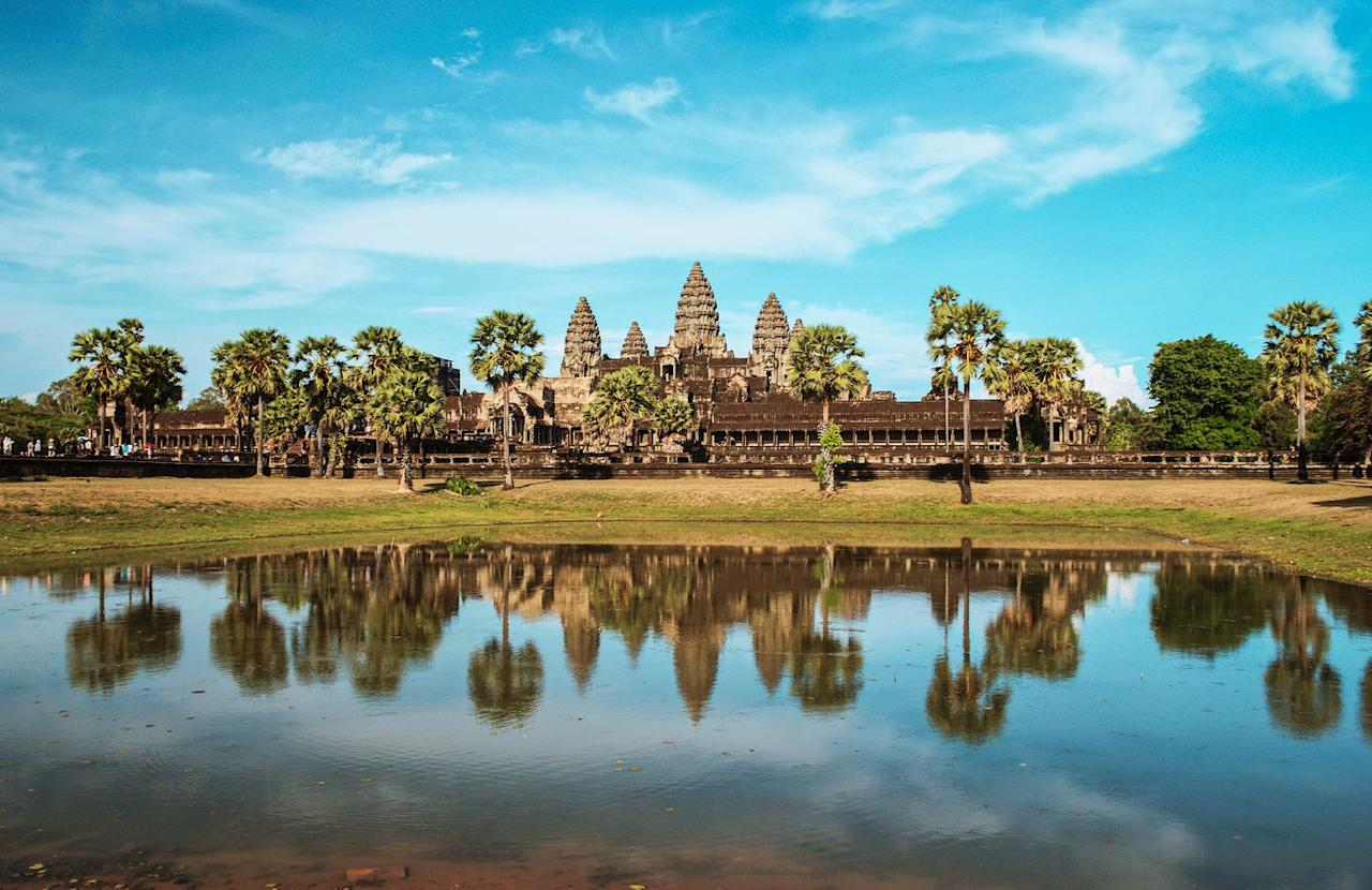 "<p><strong><a rel=""nofollow"" href=""https://www.tripadvisor.co.uk/Attraction_Review-g297390-d317907-Reviews-Angkor_Wat-Siem_Reap_Siem_Reap_Province.html"">What the reviewers said:</a> '</strong>The buildings of Angkor Wat are truly magnificent. Together they give a glimpse of what it must have taken to become one of the most influential civilisations in South East Asia.'</p><p><a rel=""nofollow"" href=""https://www.tripadvisor.co.uk/Hotels-g297390-Siem_Reap_Siem_Reap_Province-Hotels.html"">BOOK NOW</a></p>"