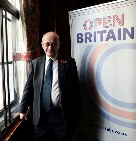 Former British ambassador to the EU, John Kerr, who drafted Article 50 of the Lisbon Treaty, poses for a photograph following a news conference, in central London, Britain November 10, 2017.  REUTERS/Simon Dawson