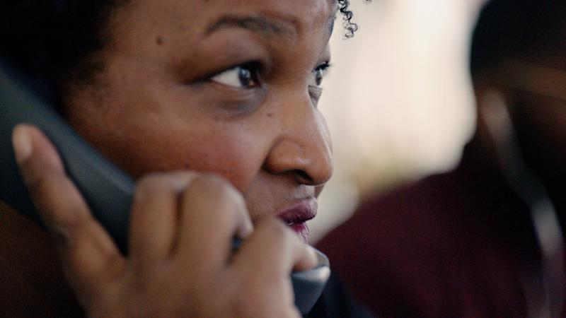 """""""All In: The Fight for Democracy"""" features Georgia Democrat Stacey Abrams, the first Black woman from a major party to run for governor in the USA, and her fight against voter suppression."""