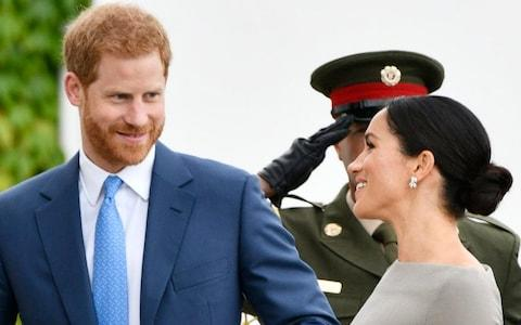 Duke and Duchess of Sussex in Dublin on Wednesday - their first overseas trip together - Credit: Geoff Pugh for the Telegraph