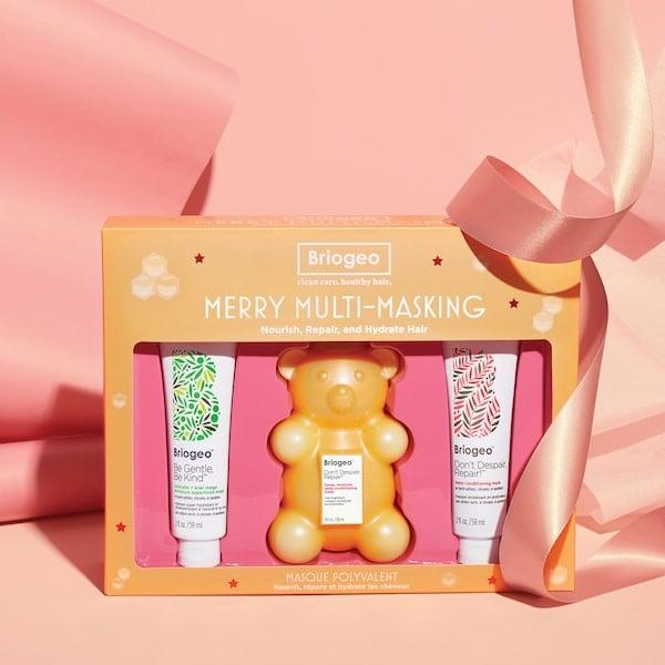 """<p>This <product href=""""https://www.sephora.com/product/briogeo-merry-multi-masking-kit-dont-despair-repair-deep-conditioning-honey-bear-hair-mask-P461427?icid2=top-rated%20by%20the%20community:p461427:product"""" target=""""_blank"""" class=""""ga-track"""" data-ga-category=""""internal click"""" data-ga-label=""""https://www.sephora.com/product/briogeo-merry-multi-masking-kit-dont-despair-repair-deep-conditioning-honey-bear-hair-mask-P461427?icid2=top-rated%20by%20the%20community:p461427:product"""" data-ga-action=""""body text link"""">Briogeo Merry Multi-Masking Kit</product> ($36) will help keep hair healthy and strong.</p>"""