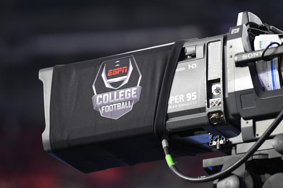 GLENDALE, AZ - DECEMBER 28: An ESPN camera during the 2019 PlayStation Fiesta Bowl college football playoff semifinal game between the Ohio State Buckeyes and the Clemson Tigers on December 28, 2019 at State Farm Stadium in Glendale, AZ. (Photo by Brian Rothmuller/Icon Sportswire via Getty Images)