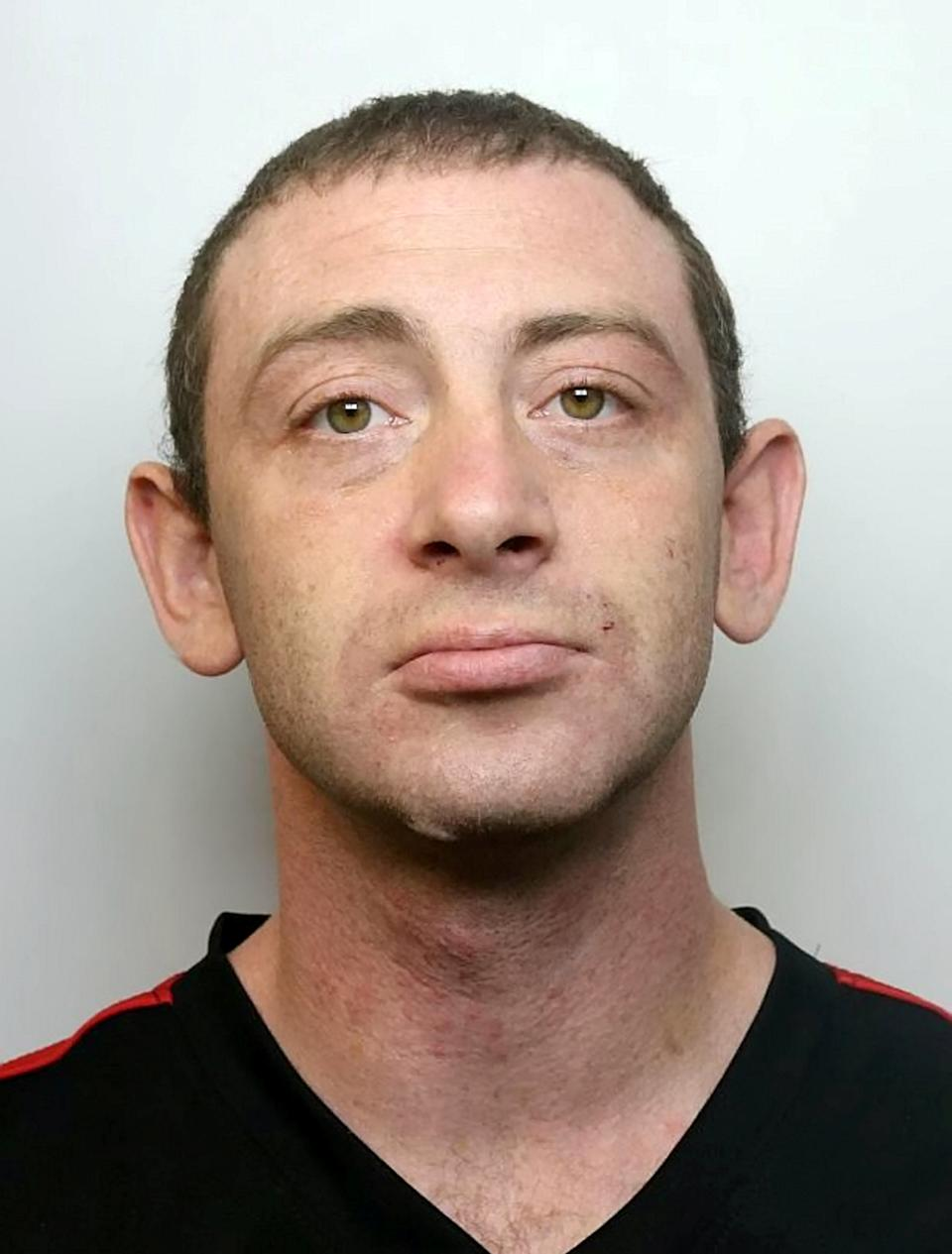 Craig Gibbs.  A man who was recorded speeding at more than 100mph on the M5 in Somerset while under the influence of drugs has today (Wednesday 25 November) been jailed for 16 months.  See SWNS story SWBRchase.  Craig Gibbs was disqualified from driving when officers from the Roads Policing Unit received reports that he was driving a green Ford Focus on the A38 near Bridgwater on Monday 5 October. After he failed to stop for police, a pursuit commenced.  The 32-year-old reached speeds of 100mph as officers pursued him on the M5 to Wellington and back, eventually exiting at Junction 23 towards Bridgwater.  Having exited the motorway, Gibbs was seen to ignore red lights and drive on the wrong side of the road as he tried to evade police.  After turning onto a side road and colliding with several cars, officers were able to detain Gibbs when his car became wedged between parked vehicles, despite him attempting to force the vehicle through.  He was arrested on suspicion of dangerous driving, driving whilst disqualified and failing to stop for police. Cannabis was seized from him and following a drugs test, he was later arrested for driving whilst unfit through drugs.