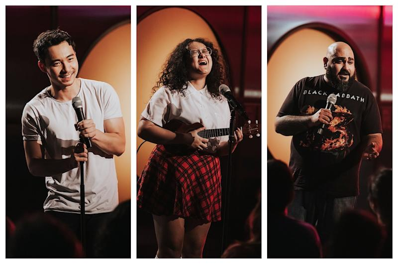 Local comedians Nigel Ng, Hannan Azlan and Kavin Jay are bringing their rib-tackling jokes to 'Comedy Central Stand-Up Asia Season 4'. — Picture Courtesy of Comedy Central Asia