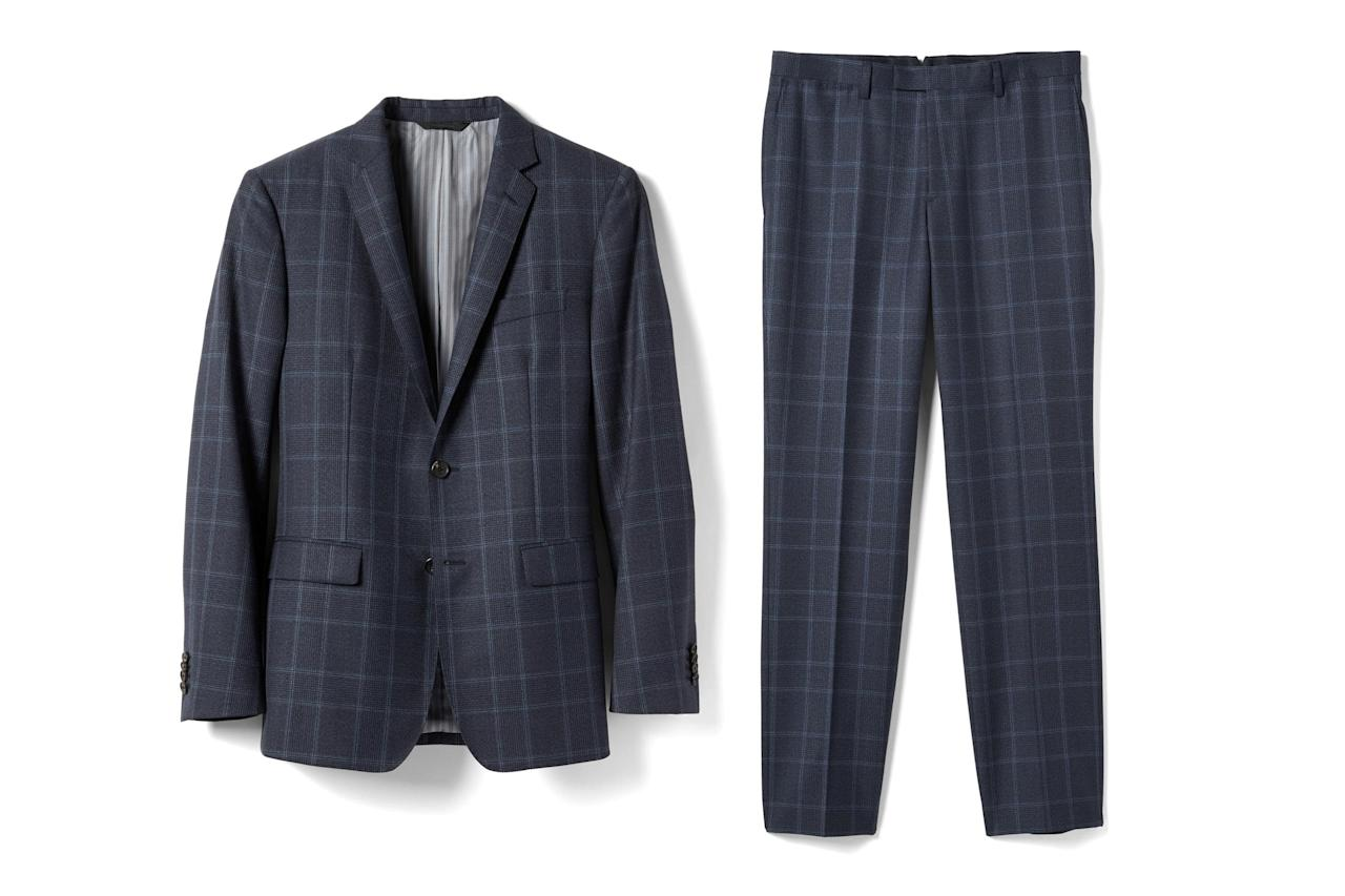 "<p><em>Suit jacket, $360, buy now at <a rel=""nofollow"" href=""http://bananarepublic.gap.com/browse/product.do?cid=75310&mbid=synd_yahoostyle&pid=376909002&vid=1"">bananarepublic.com</a>. Suit pants, $158, buy now at <a rel=""nofollow"" href=""http://bananarepublic.gap.com/browse/product.do?cid=75310&mbid=synd_yahoostyle&pid=376914002&vid=1"">bananarepublic.com</a></em></p>"