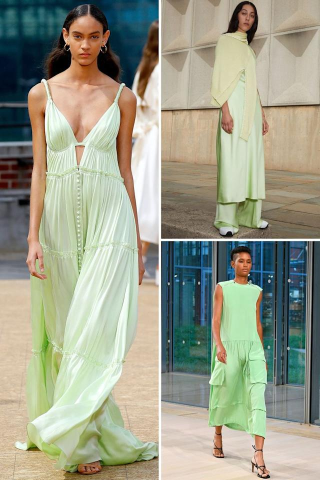 <p>Spring is always about a cool color story. This season seems to be all about a bold citrus that's often underserved in the color-scape: lime. Spotted on the runways of Jonathan Simkhai, Tibi, and Rosetta Getty, it's a refreshing shade that feels just right for those margarita-infused days. </p><p><em>Clockwise from left: Jonathan Simkhai, Rosetta Getty, Tibi</em></p>