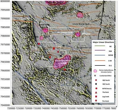 FIGURE 4 - GEORGETOWN INLIER REPROCESSED AEROMAGNETICS AND LINEARS (CNW Group/Essex Minerals Inc)