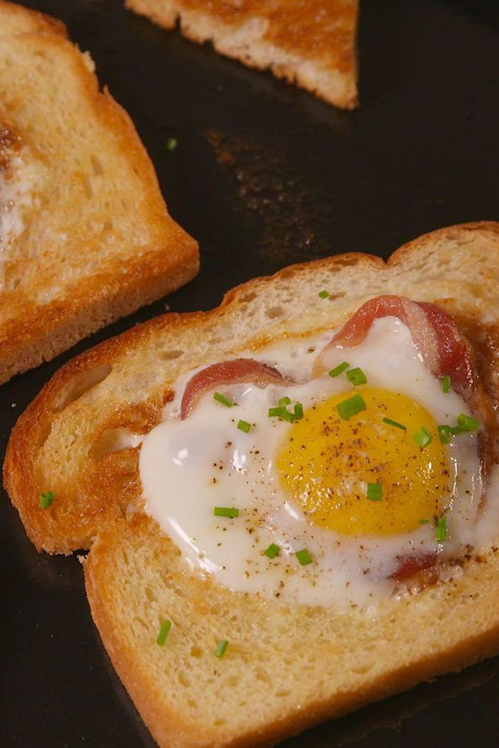 """<p>Bacon=the ultimate declaration of love.</p><p>Get the recipe from <a href=""""https://www.delish.com/cooking/recipe-ideas/recipes/a51237/bacon-egg-in-a-heart-recipe/"""" rel=""""nofollow noopener"""" target=""""_blank"""" data-ylk=""""slk:Delish"""" class=""""link rapid-noclick-resp"""">Delish</a>.</p>"""
