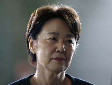 Japan's new Minister-in-Charge of the Abduction Issue and head of the National Public Safety Commission Eriko Yamatani arrives at Prime Minister Shinzo Abe's official residence in Tokyo September 3, 2014. REUTERS/Yuya Shino