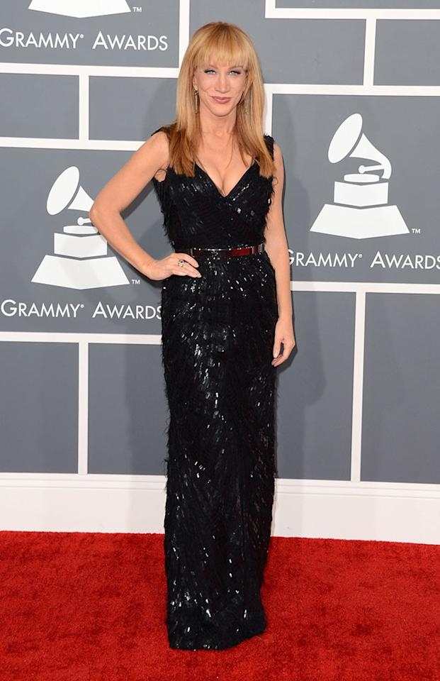 Kathy Griffin arrives at the 55th Annual Grammy Awards at the Staples Center in Los Angeles, CA on February 10, 2013.