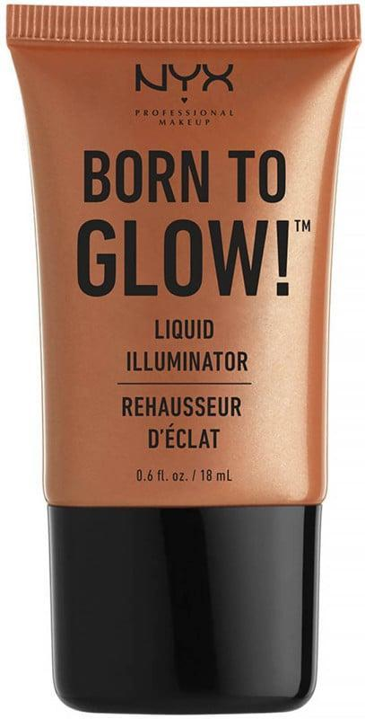 <p>You'll be obsessed with the <span>NYX Born to Glow! Liquid Illuminator</span> ($8), simply because it makes you glisten from head to toe. You can apply this creamy liquid highlighter down the center of your legs, on your collarbones, and even on your shoulders.</p>