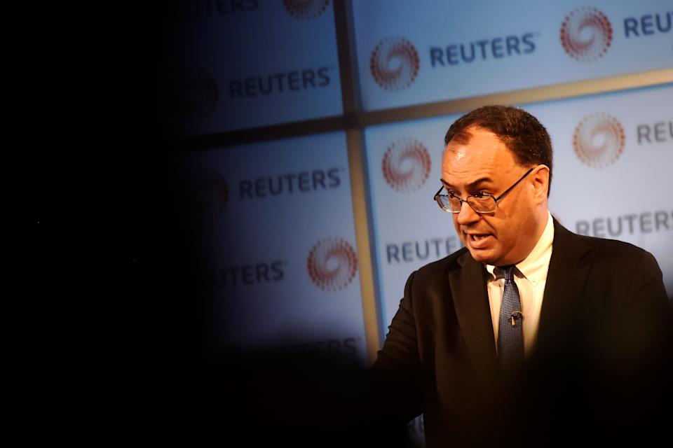 Andrew Bailey was chief executive of the Financial Conduct Authority before being appointed governor of Bank of England last year. Photo: Hannah McKay/Reuters