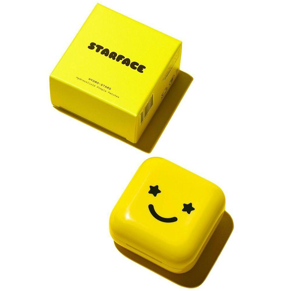"""<p><strong>32 HYDROCOLLOID PIMPLE PATCHES</strong></p><p>starface.world</p><p><strong>$20.00</strong></p><p><a href=""""https://starface.world/products/hydro-stars?variant=31344717234247¤cy=USD&gclid=Cj0KCQjwgJv4BRCrARIsAB17JI79w1wIHijfIR6JnoymbRf5nDJpTfyndMwkxnCTEblCzUemfOJ74wwaArzSEALw_wcB"""" rel=""""nofollow noopener"""" target=""""_blank"""" data-ylk=""""slk:Shop Now"""" class=""""link rapid-noclick-resp"""">Shop Now</a></p><p>We love and stan <a href=""""https://www.instagram.com/julie_schott/?hl=en"""" rel=""""nofollow noopener"""" target=""""_blank"""" data-ylk=""""slk:Julie Schott"""" class=""""link rapid-noclick-resp"""">Julie Schott</a>, former ELLE.com Beauty Director and mastermind behind <a href=""""https://starface.world/"""" rel=""""nofollow noopener"""" target=""""_blank"""" data-ylk=""""slk:Starface"""" class=""""link rapid-noclick-resp"""">Starface</a>, an acne-positive skincare brand. These adorable Hydro-Stars stay on your face all day, whether you're eating, sleeping, or sweating, while absorbing stubborn pus from pimples. Plus, they just dropped new <a href=""""https://starface.world/products/rainbow-hydro-stars"""" rel=""""nofollow noopener"""" target=""""_blank"""" data-ylk=""""slk:Rainbow Hydro-Stars"""" class=""""link rapid-noclick-resp"""">Rainbow Hydro-Stars</a> (!!) with all net proceeds donated to the <a href=""""https://borealisphilanthropy.org/grantmaking/black-led-movement-fund/"""" rel=""""nofollow noopener"""" target=""""_blank"""" data-ylk=""""slk:Black Led Movement Fund"""" class=""""link rapid-noclick-resp"""">Black Led Movement Fund</a> and the <a href=""""https://hmi.org/"""" rel=""""nofollow noopener"""" target=""""_blank"""" data-ylk=""""slk:Hetrick-Martin Institute for LGBTQ+ youth"""" class=""""link rapid-noclick-resp"""">Hetrick-Martin Institute for LGBTQ+ youth</a>. Buy, buy, buy!</p>"""