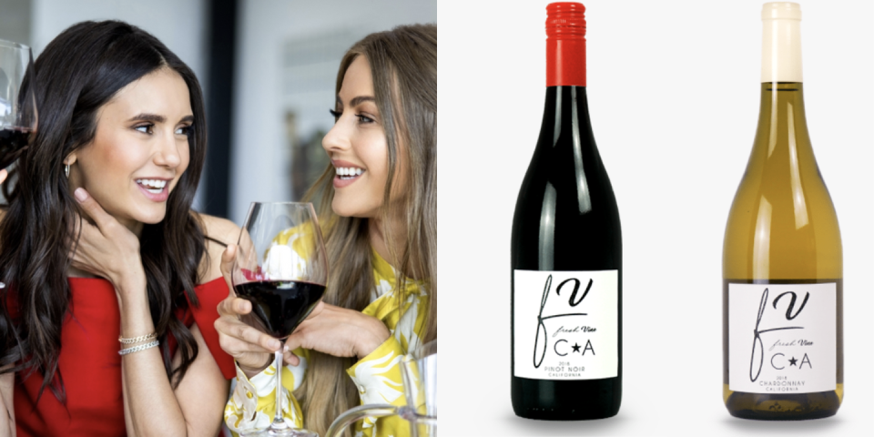 """<p>Nina Dobrev and Julianna Hough wanted to create wine for people with an overall active lifestyle that wouldn't affect that progress by being sugary or high calorie. Their collection of Fresh Vine wines are all gluten-free, keto-friendly, and totally vegan. You can choose from pinot noir, chardonnay, cabernet sauvignon, and rosé. </p><p><a class=""""link rapid-noclick-resp"""" href=""""https://www.freshvinewine.com/product/chardonnay/"""" rel=""""nofollow noopener"""" target=""""_blank"""" data-ylk=""""slk:BUY NOW"""">BUY NOW</a> <em><strong>$17.89, freshvinewine.com</strong></em></p>"""