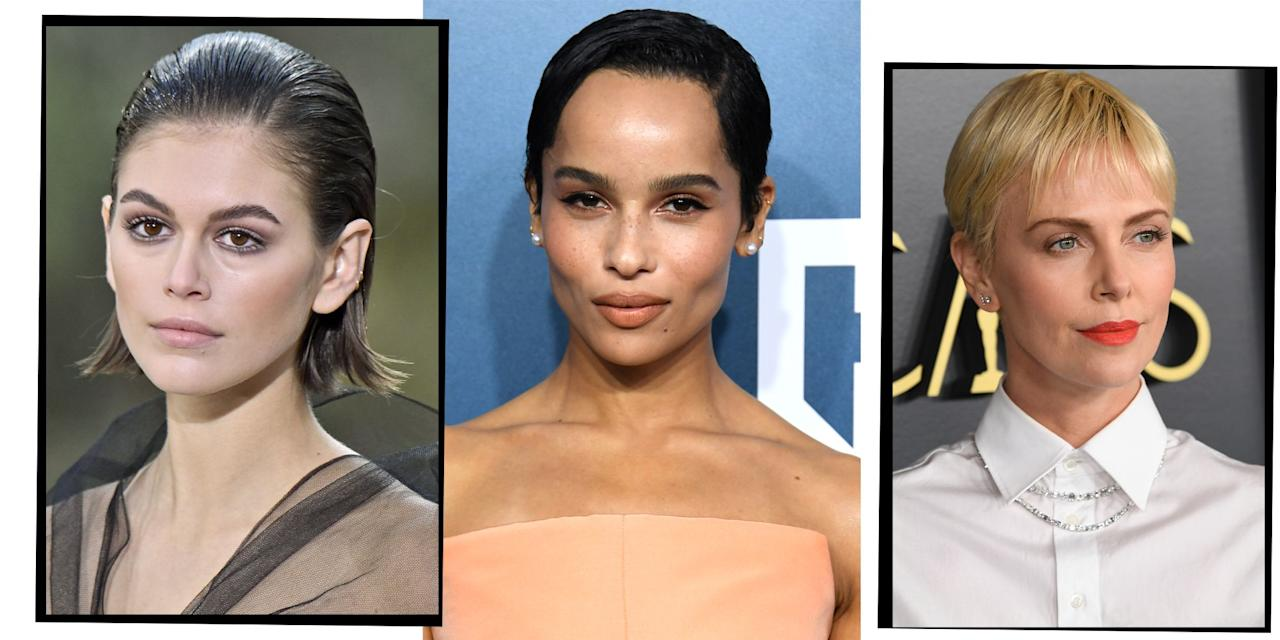 "<p>The time when waist-length <a href=""https://www.elle.com/uk/beauty/hair/g20111621/long-hairstyles/"" target=""_blank"">long</a> hair was the go-to hairdo for passing as a super hot A-lister is officially over. These days if you want to stand out on the red carpet and stay in the in-crowd, it's all about short hair styles. </p><p>Between Zoe Kravitz''s badass pixie crop, Kaia Gerber's lust-worthy bob, Charlize Theron's blonde bowl cut, and <a href=""https://www.elle.com/uk/beauty/hair/articles/g31115/celebrity-lobs-mid-length-hairstyle-inspiration-from-the-girls-getting-it-right/"" target=""_blank"">lobs</a> all over the place, short hair styles are the 'do du jour.</p><p>'Short hair is continuing its roll with bobs being more square shaped and jagged (meaning the base is cut into and not wispy so it still looks sharp)', says celeb hairstylist Paul Edmonds. 'I've had a lot more clients taking the plunge and going really short at the back, almost manly. I think the looks by Charlize Theron, Kristen Stewart and Emma Thompson are a winner at the moment.'</p><p>Thinking of taking the short hair plunge? Check out our edit of the best short hair styles for all the Pinterest board inspo you could ever need. </p>"
