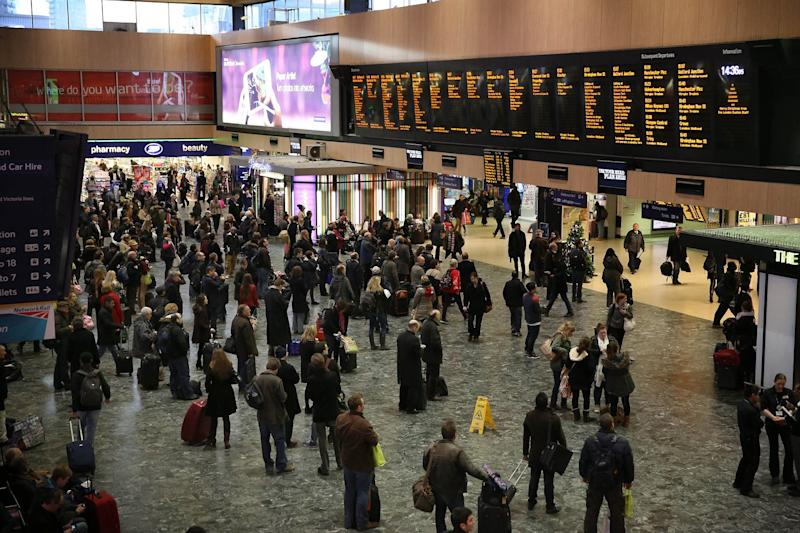 Euston station will be decked out with festive cheer for the homeless shelter: Peter Macdiarmid/Getty Images