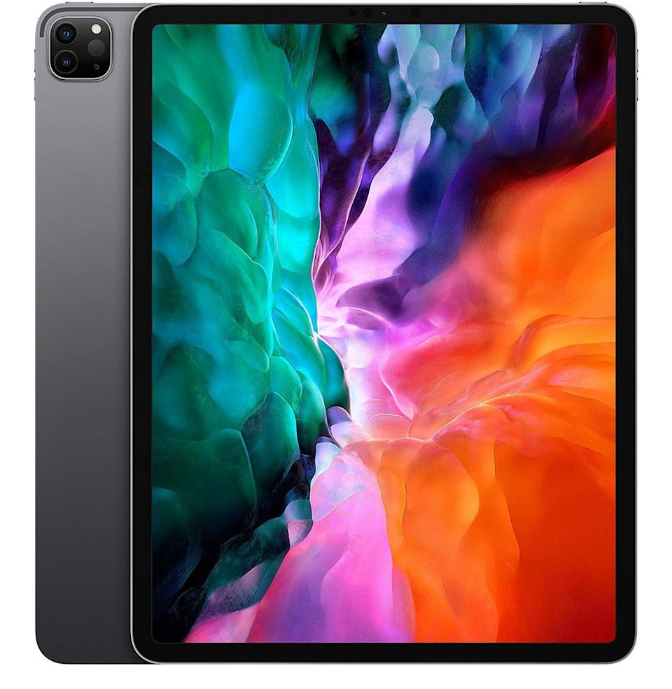 """<p><strong>Apple</strong></p><p>amazon.com</p><p><strong>$949.00</strong></p><p><a href=""""https://www.amazon.com/dp/B0863D15R6?tag=syn-yahoo-20&ascsubtag=%5Bartid%7C10054.g.34313481%5Bsrc%7Cyahoo-us"""" rel=""""nofollow noopener"""" target=""""_blank"""" data-ylk=""""slk:Buy"""" class=""""link rapid-noclick-resp"""">Buy</a></p><p><strong><del>$999.00</del> (5% off)</strong></p><p>Though it isn't a remarkable discount, taking 50 bucks off the iPad Pro will help you justify replacing your laptop with it.</p>"""