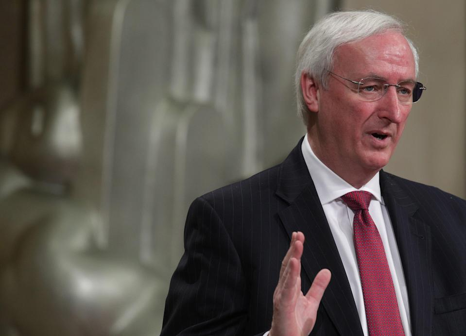 Former acting US Attorney General Jeffrey Rosen has refused to answer whether he discussed election results with Donald Trump in the days before the Capitol insurrection on 6 January. (Getty Images)