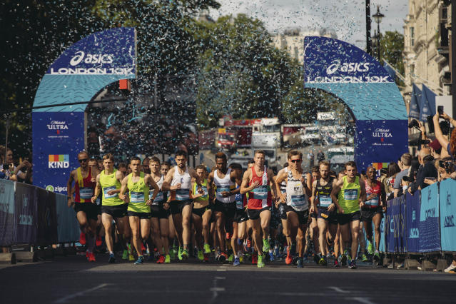 The 2019 ASICS London 10K was won by Josh Griffiths (male winner) and Rebecca Murray (female winner) with times of 29:47 and 33:46 respectively.