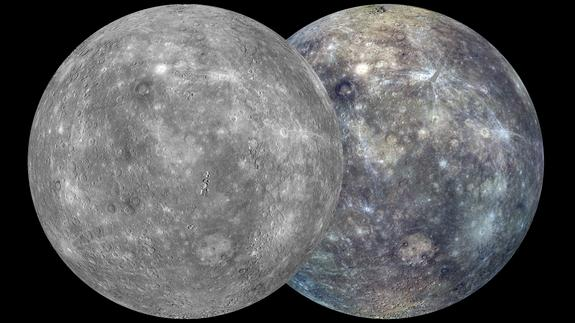 Scientists use images from NASA's Messenger spacecraft to create these global views of Mercury, the most complete maps ever. The images were released on Feb. 22, 2013.