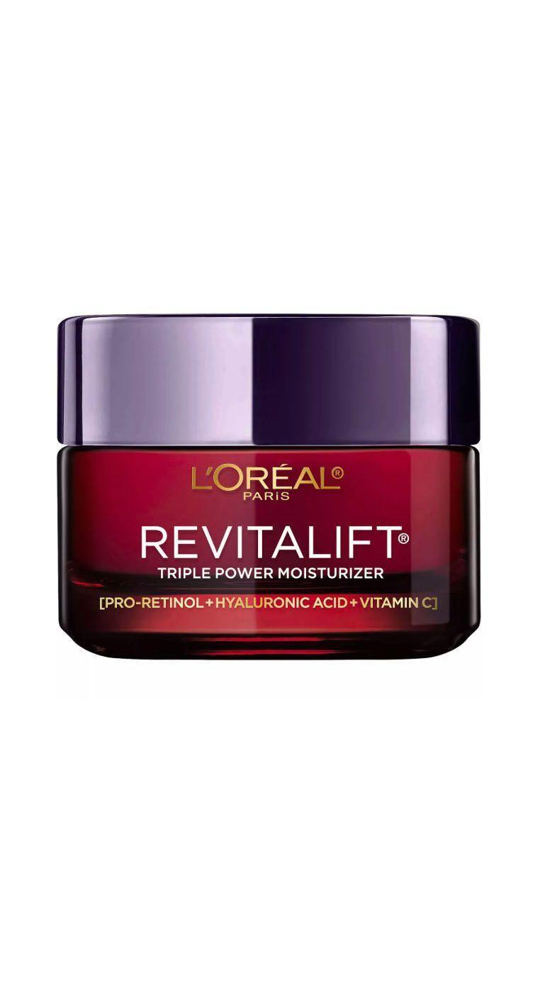 "<p><strong>L'oréal Paris</strong></p><p>lorealparisusa.com</p><p><strong>$24.99</strong></p><p><a href=""https://www.lorealparisusa.com/products/skin-care/products/facial-moisturizers/revitalift-triple-power-anti-aging-moisturizer.aspx"" rel=""nofollow noopener"" target=""_blank"" data-ylk=""slk:Shop Now"" class=""link rapid-noclick-resp"">Shop Now</a></p><p>The anti-aging all-stars—retinol, hyaluronic acid, and vitamin C—get cozy in this wallet-friendly formula. If you're looking to get into retinol but don't want to spend a small fortune, this jar is a good place to start.</p>"
