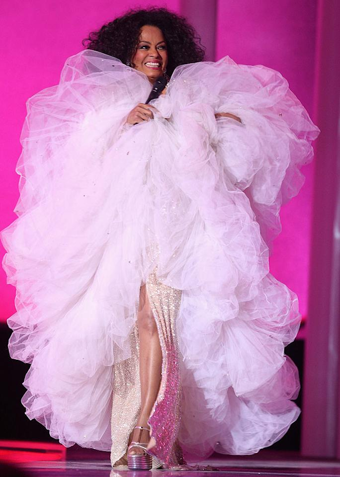 """Diana Ross' cotton candy catastrophe is far from sweet. In fact, it gives me a tummy ache. Chris Jackson/<a href=""""http://www.gettyimages.com/"""" target=""""new"""">GettyImages.com</a> - December 11, 2008"""