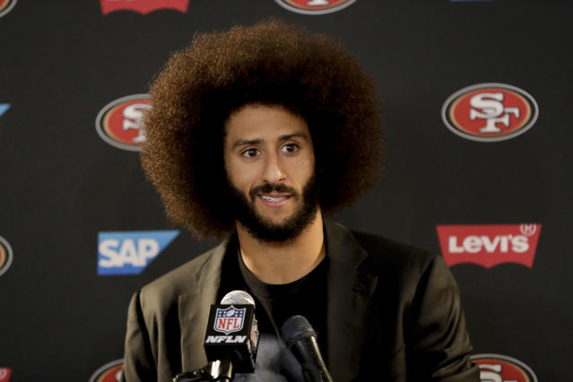 An NFL spokesman said the league is looking forward to Colin Kaepernick's involvement in the next round of talks between players and owners about social activism. (AP)