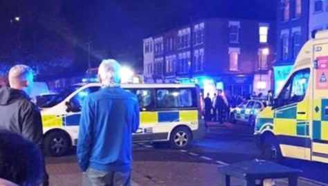 Gordon Road, Enfield: officers were called at 6pm: @999london