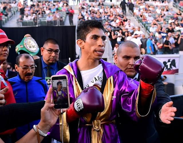 Rey Vargas made his third straight successful defense of his super bantamweight World Boxing Council title with a unanimous decision over Azat Hovhannisyan (AFP Photo/Harry How)
