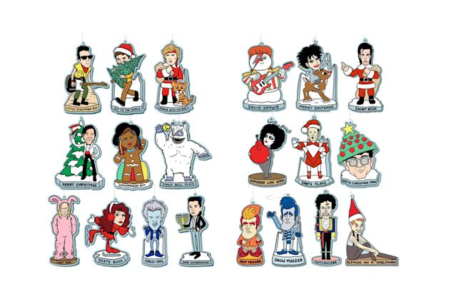 "<p>Celebrate the holidays New Wave-style, with these 20 ornaments inspired by musicians — with a seasonal twist. Hang up David Snowie next to Saint Nick Cave, and you'll be having a very Merry Smithmas. <strong>Buy <a href=""http://www.mlinehamart.com/product/10-ornament-set"" rel=""nofollow noopener"" target=""_blank"" data-ylk=""slk:here"" class=""link rapid-noclick-resp"">here</a> and <a href=""http://www.mlinehamart.com/product/10-new-wave-ornament-set-2017"" rel=""nofollow noopener"" target=""_blank"" data-ylk=""slk:here"" class=""link rapid-noclick-resp"">here</a></strong> </p>"