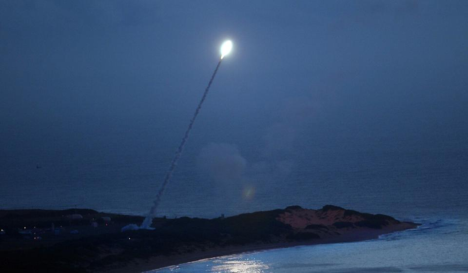 The US target missile was launched from a test site in the Marshall Islands, the Pentagon said. Photo: US Navy