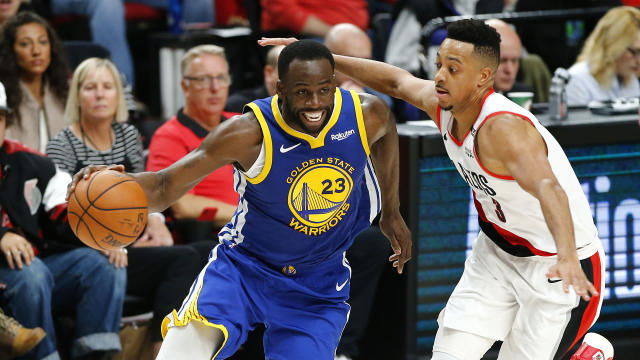 Draymond Green's triple-double helped the Golden State Warriors move within a game of the NBA Finals.