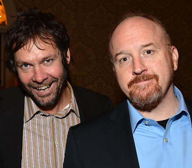Dave Becky and Louis C.K. smile for a photo back in 2013.