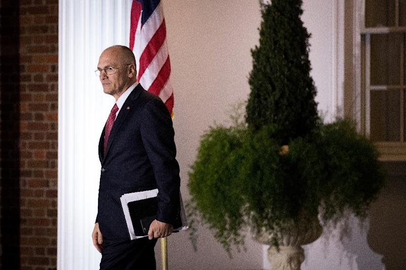 Past controversies forced fast-food restaurant executive Andrew Pudzer to withdraw as Trump's labor secretary pick to avoid being rejected on confirmation (AFP Photo/Drew Angerer)