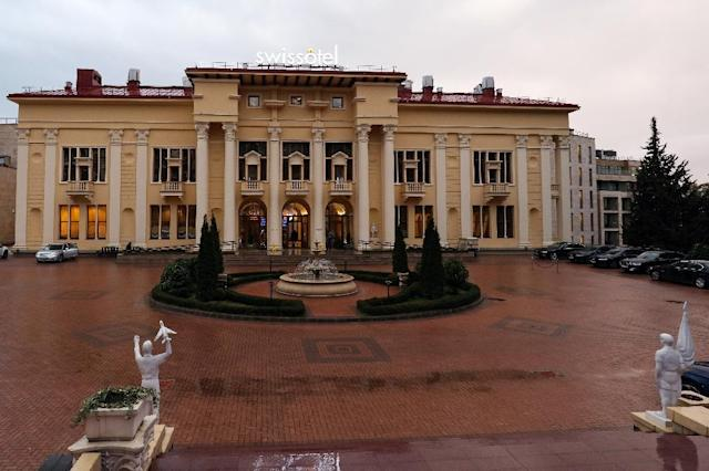 Brazil's World Cup squad will be based in the Black Sea resort of Sochi in a luxurious hotel originally built by Stalin for the Communist Party elite (AFP Photo/Vitaly TIMKIV)