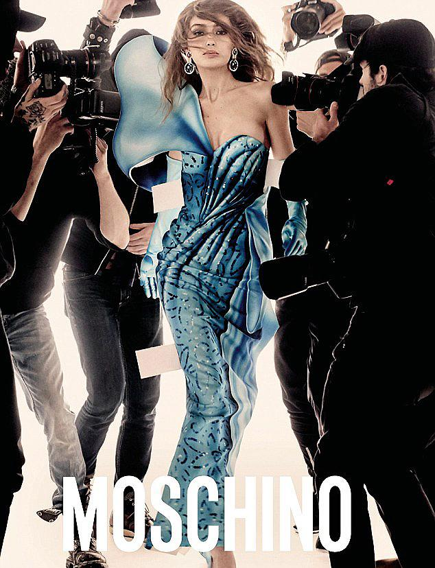 Gigi Hadid stars in Moschino's spring 2017 campaign. (Photo: Steven Meisel/Moschino)