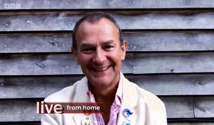 Hugh Bonneville (Screenshot: The One Show/BBC)