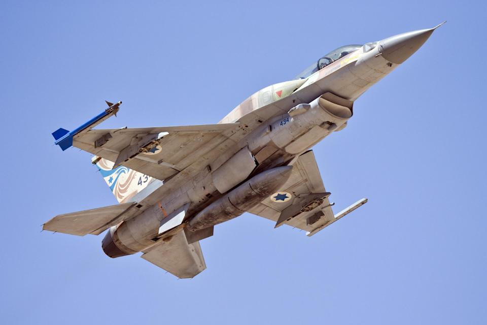 Israeli fighter jets hit two military bases in the Quneitra region of Syria, according to the Syrian Observatory for Human Rights monitoring group (AFP Photo/Jack Guez)